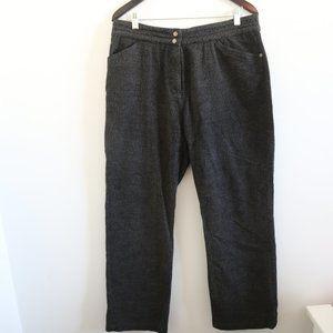 WOOLRICH Onyx Heather Grey High-rise Trouser Pants